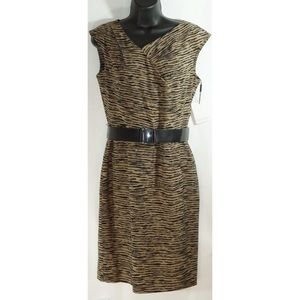 Calvin Klein Animal Print Dress Size 4 Fully Lined